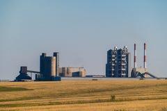 Anlage für die Extraktion und die Verarbeitung des Kieses und des Sandes für Gebrauch in den Straßen und im Baugewerbe Stockfotos
