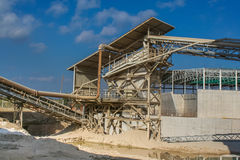 Anlage für die Produktion von keramischen Massen nahe der Stadt der Form Stockfotografie