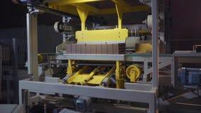 Anlage für die Produktion von Ziegelsteinen Anlage für ProduktionsBaumaterial mit bereitem Ziegelstein, Bau industriell stock video