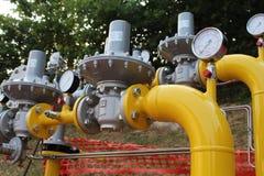 Anlage für Erdgas Stockfotografie