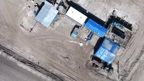 Anlage für Gasproduktion stock video footage