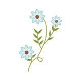 Anlage mit Verzweigung und blauen Blumen lizenzfreie abbildung