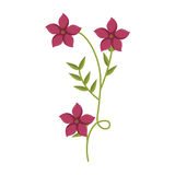Anlage mit Verzweigung und rosa Blumen lizenzfreie abbildung