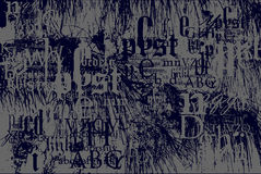 Anlagen gegen Schrifttypanordnung stock abbildung