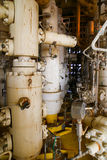 Anlagen-Offshoreerdölraffinerie Wohle Hauptstation auf der Plattform Lizenzfreies Stockbild