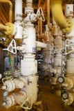 Anlagen-Offshoreerdölraffinerie Wohle Hauptstation auf der Plattform Stockfotos