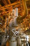 Anlagen-Offshoreerdölraffinerie Wohle Hauptstation auf der Plattform Stockbild