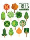 Anlagen und Bäume /illustration Stockbild