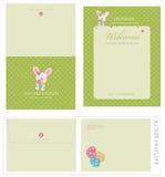 Anlass-Schablonen und Umschlag Stockfotos