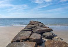 Anlegestelle auf Sullivans Insel, South Carolina stockbilder