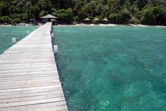 Anlegestelle auf Tioman Insel, Malaysia Stockbilder