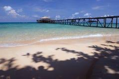 Anlegestelle auf Tioman Insel, Malaysia Stockfotografie