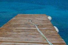 Anlegestelle im Meer Lizenzfreies Stockfoto