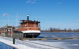Anlegestelle in Lappeenranta lizenzfreie stockfotografie