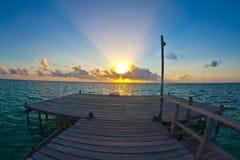 Anlegestelle am Sonnenaufgang Lizenzfreie Stockfotografie