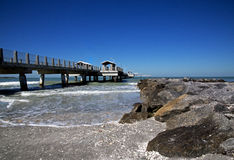 Anlegestelle und Fischenpier Lizenzfreie Stockfotografie