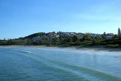 Anlegestellen-Strand in Coffs Harbour in New South Wales Australien Lizenzfreies Stockbild