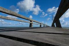 Anlegestellenponton-LUC sur mer Lizenzfreies Stockbild