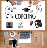 ANLEITUNG der Ausbildungsplanung, die Anleitungsgeschäfts-Führer Ins lernt stock abbildung