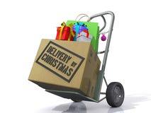 Anlieferung durch Christmas Stockfotos