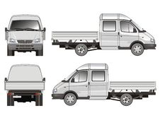 Anlieferung/Ladung-LKW lizenzfreie abbildung