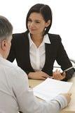 Análise financeira, reunião de negócios Imagens de Stock