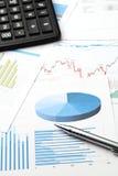 Análisis de datos financieros Foto de archivo