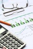 Análisis de inversión empresarial Fotografía de archivo libre de regalías