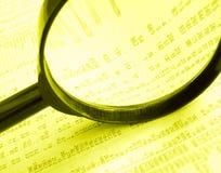 Análisis de precios de la bolsa Imágenes de archivo libres de regalías