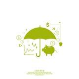 Análisis e informe de la gestión financiera Foto de archivo libre de regalías
