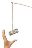 Anlockung mit japanischem Geld Stockfotografie