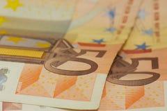 anmärkning för euro 50 Arkivbild