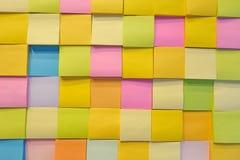 Anmärkning för pappers- färg Arkivbild