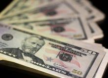 Anmärkning för pappers- pengar 50 dollar USA Royaltyfria Bilder