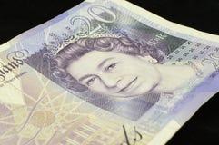 Anmärkning för pund £20 Royaltyfri Bild