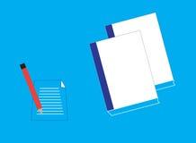 Anmärkning och blyertspenna vektor illustrationer