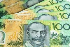 Anmärkningar för australier 100,00 Royaltyfri Fotografi