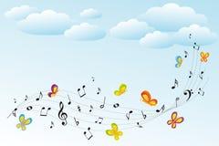 anmärkningar för bakgrundsmusik stock illustrationer