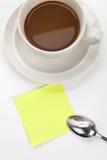 anmärkningar för kaffekopp Royaltyfri Fotografi