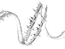 anmärkningar för musik 3d Arkivfoto