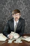 anmärkningar för nerd för revisoraffärsmandollar fotografering för bildbyråer