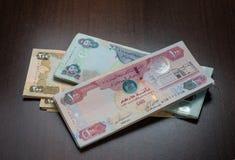 Anmärkningar för UAE-Dirhamvaluta Arkivbilder