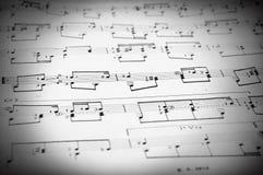 Anmärkningar och musikalnotsystem Royaltyfri Bild