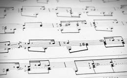 Anmärkningar och musikalnotsystem Royaltyfria Foton