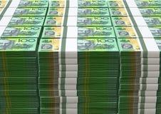 Anmärkningshög för australisk dollar Fotografering för Bildbyråer