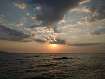 Anmärkningsvärd löneförhöjning från stranden Royaltyfria Bilder