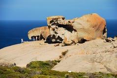 Anmärkningsvärt vaggar, Flindersjaktnationalparken Känguruö, södra Australien Royaltyfri Bild