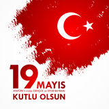 anma del ` u di Ataturk di 19 mayis, bayrami di spor della VE del genclik Traduzione: il diciannovesimo può commemorazione di Ata Fotografie Stock
