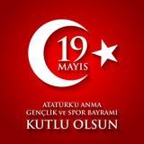 anma du ` u d'Ataturk de 19 mayis, bayrami de spor du VE de genclik Traduction : le 19ème peut commémoration d'Ataturk, jeunesse  Photographie stock