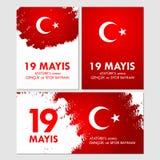 anma van u van 19 mayisataturk `, genclik ve sporbayrami Vertaling: negentiende kan herdenking van Ataturk, de jeugd en sportenda stock illustratie